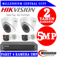 Paket Cctv Hikvision 4 CH 5.0 Megapixel