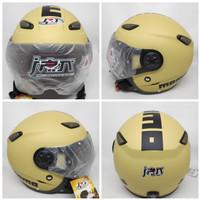 Helm JPN kawai momo cappucino doff kaca pilot