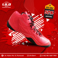 Sepatu Bola Basket League Levitate Chinese Red Black uk: 41