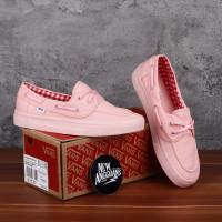 Sepatu Vans Zapato Japato Full Pink Peach Gingham Flanel