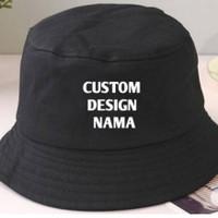 bucket hat custom bordir