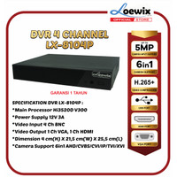 DVR 4 CHANNEL LOEWIX LX-8104P 4CH XMEYE FULL HD 1080P 6IN1