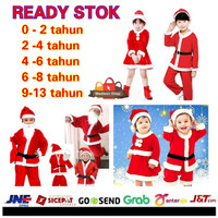 Baju Natal Santa Anak Murah Kostum Pesta Natal Bayi Anak Cewe Cowo - Random MIX