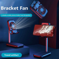 Smartphone dan Tablet Stand Foldable with Fan ZG30- for Zoom Tiktok