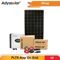 Adyasolar Panel Surya / Solar Panel / Inverter On Grid 3 kWp 1P