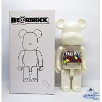 Pajangan Figure Mainan BearBrick BE@RBRICK My First Baby Putih 400%