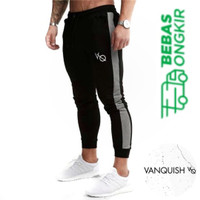 Celana Training JOGGER PANJANG VQ STRIPE VANQUISH olahraga fitness