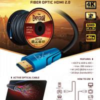 Kabel HDMI Fiber Optic Aktive. Versi 2.0- 4k Ultra HD - 50M. RVTECH.