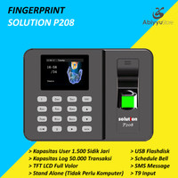 Fingerprint Solution P208 / Mesin Alat Absensi Sidik Jari
