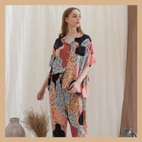 Alice Set in Macaron - Sleepwear / Piyama Baju Tidur Rayon by RAHA