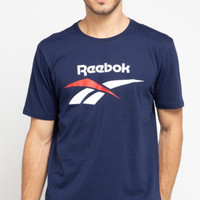Reebok Basic Mens Graphic Tee Original Kaos Olahraga Running Pria