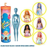 Boneka Mattel Barbie 7 Surprise Color Reveal Orange Sunny N Cool Doll