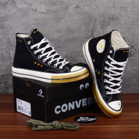 Sepatu Converse X Dr Woo Chuck 70s Hi Black White Sunset Gold Egret