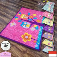 Tren-D-rugs Karpet permadani anak karakter bulu anti slip murah NMs - Owl 2 Pink