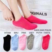 kaos kaki socks pendek semata import murah polos - Biru