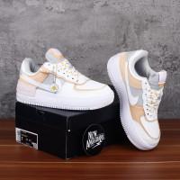 Sepatu Nike Air Force One 1 AF1 Shadow Beige Flower Spruce Aura