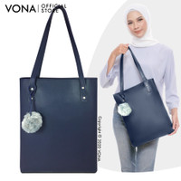 VONA ABBY -Tas Bahu Branded Wanita Tote / Shoulder Bag Murah dg Pompom