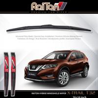 "Raiton Sepasang Wiper Hybrid Kaca Depan Nissan X-Trail T-32 26"" & 16"""