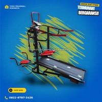 Treadmill manual 6fungsi merk total tipe TL-004 | alat fitness gym