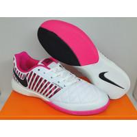 Sepatu Futsal Nike Lunar Gato II Home Crew White Pink Black
