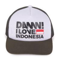 DAMN! I LOVE INDONESIA CAP SIGN OLIVE/WHITE HD BLACK