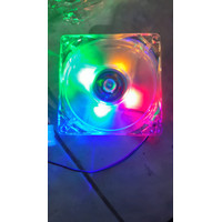 Fan Casing 8Cm Transparant Led - Pelangi