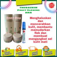 Paket Glowing Theraskin Aha, Renewal cream plus serum afa