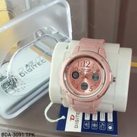 Jam Tangan Wanita Digitec 3091 Dual Time Original