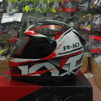 KYT R10 #2 White Black Red Fluo Dark Visor