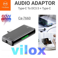 mcdodo audio adapter pd 60w type c to jack 3.5mm ipad pro s note 10 20