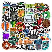 50 pcs Stiker Skateboard Skater Santa Cruz Koper Rimowa Sticker