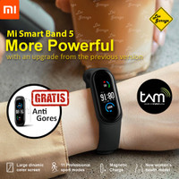 Mi Band 5 Xiaomi Miband 5 Smart Band Colour AMOLED Display Original - Hitam, TAM Global Ver
