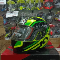 KYT R10 FLAT & PIN LOCK RD ED SUPER FLUO YELLOW FLUO/GREEN FLUO