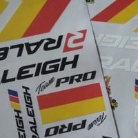 Sticker decal sepeda road bike balap jadul vintage raleigh
