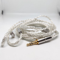Custom 16 Braid MMCX Cable Replacement 3.5mm 2.5mm 4.4mm Balanced Jack