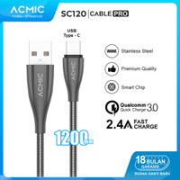 ACMIC SC120 Kabel Data Charger USB Type C 100cm Fast Charging Cable