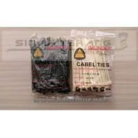 Kabel Ties 4,8x150mm Putih Imundex - Tali Ripet 15cm Tebal
