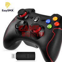 EasySMX ESM-9013 AA Battery Wireless PC Gaming Controller - Merah