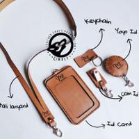 id card holder kulit - name tag kulit - name tag kulit asli