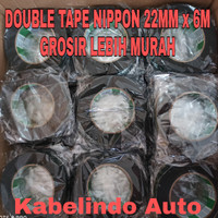 NIPPON DOUBLE TAPE FROM 22MM x 6M DOUBLE TAPE HIJAU BUSA HIGH QUALITY