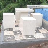 Meja Kursi Taman Kotak Teraso