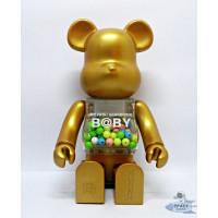 Pajangan Figure Mainan BearBrick BE@RBRICK My First Baby Gold 400%