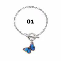Bracelet KPOP Lisa BLACKPINK Gelang Kupu Kupu Korea Perhiasan Wanita