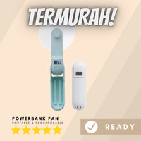 Kipas Angin Powerbank Rechargeable - Mini Fan Portable - Bicca - Putih