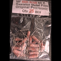 Qty 25 pcs MF 68K R3W 68 K Resistor Metal Film Original Panasonic