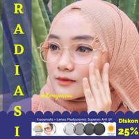Kacamata Radiasi Minus Blueray Paket Murah Photocromic - Anti Radiasi