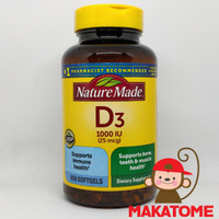 Nature Made Vitamin D3 1000IU 650 softgel naturemade D-3 1000 IU D 3