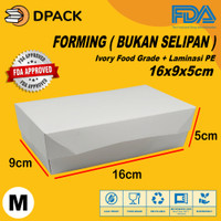 Paper Lunch Box Ukuran M FoodGrade Kemasan Makanan Kotak Polos