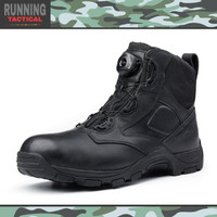 Sepatu Tactical Hiking & Militer Hanagal Boots 6 Ori Boa System - Hitam, 42