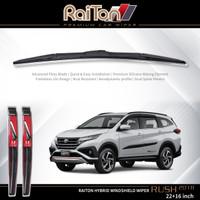"""Raiton Sepasang Wiper Hybrid Kaca Depan Mobil Toyota Rush New 22""""&16"""""""